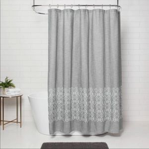 [threshold] grey shower curtain